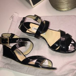 Jimmy Choo Connor Wedge patent leather Sandal